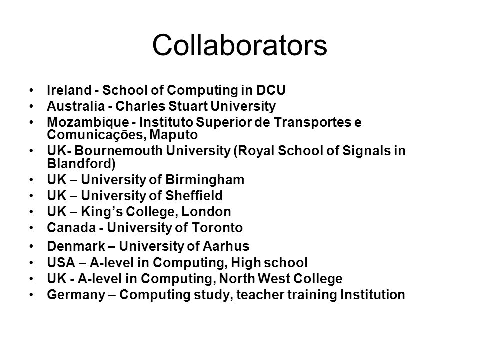 Collaborators Ireland - School of Computing in DCU