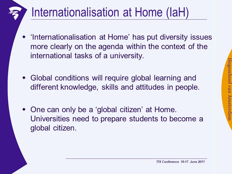Internationalisation at Home (IaH)