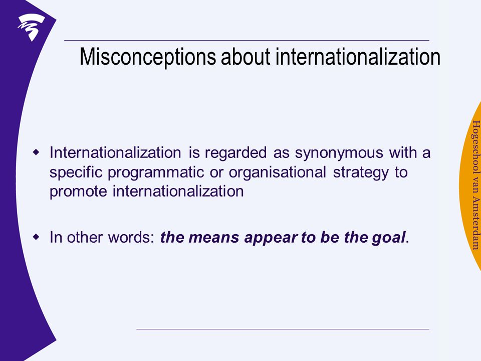 Misconceptions about internationalization