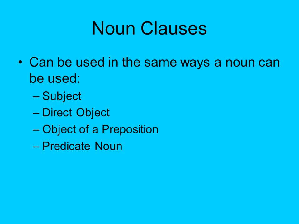 noun clauses as subjects exercises pdf