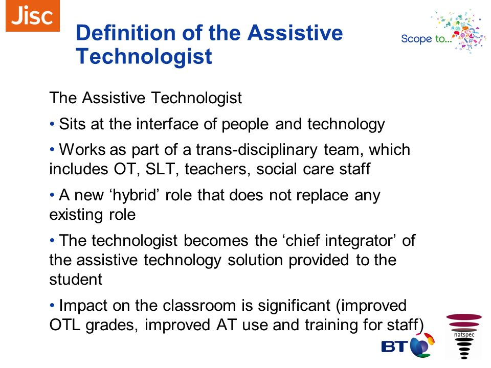 Definition of the Assistive Technologist