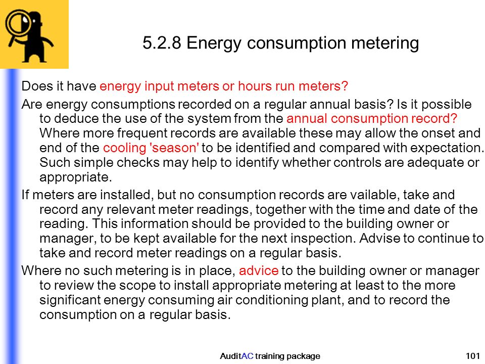 5.2.8 Energy consumption metering