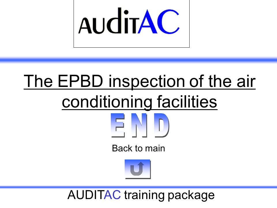 The EPBD inspection of the air conditioning facilities