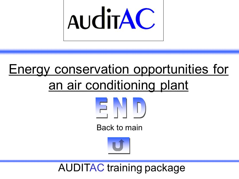 Energy conservation opportunities for an air conditioning plant