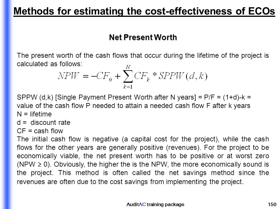 Methods for estimating the cost-effectiveness of ECOs