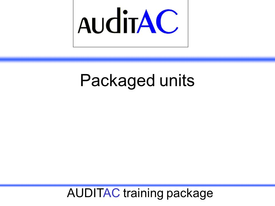 Packaged units