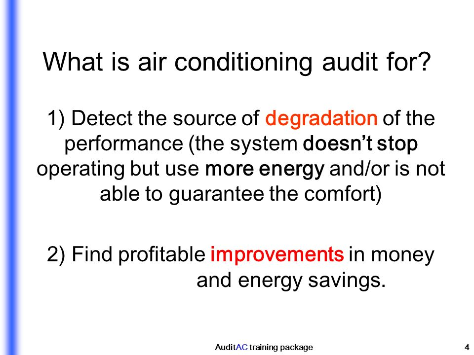 What is air conditioning audit for