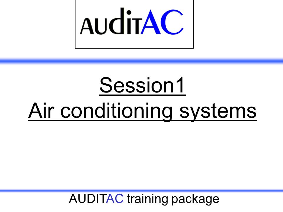Session1 Air conditioning systems