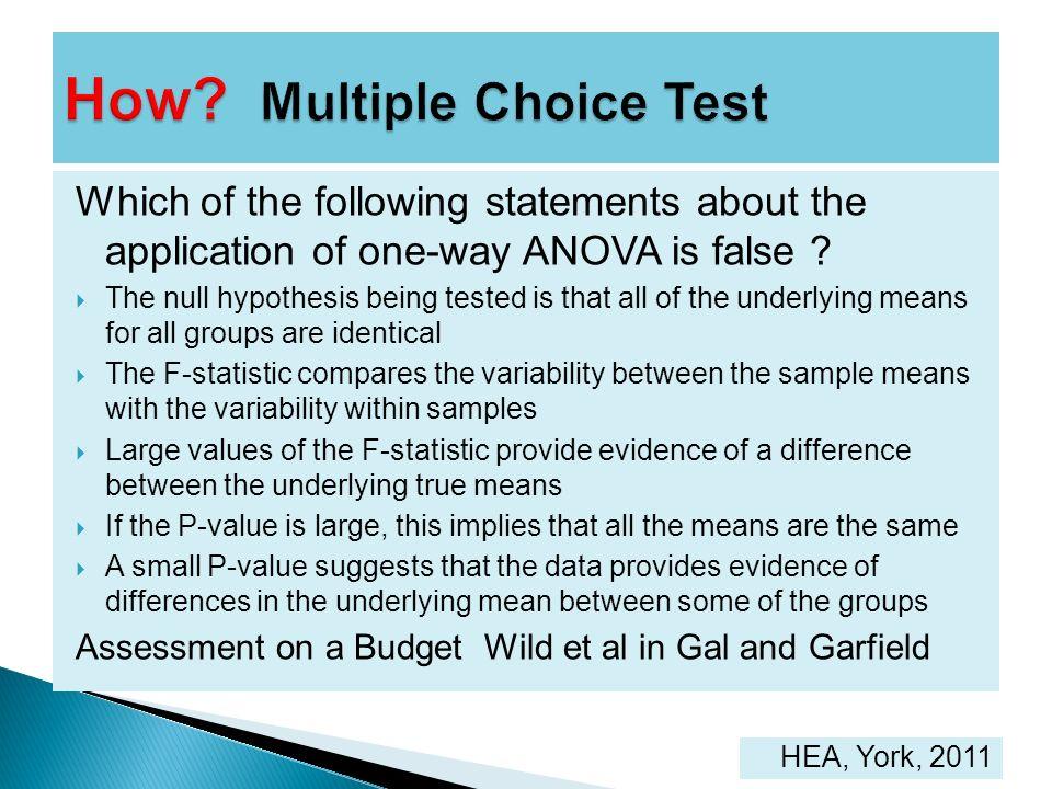 How Multiple Choice Test