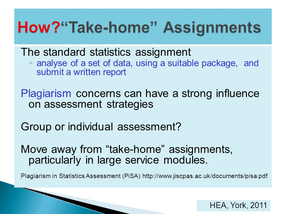 How Take-home Assignments