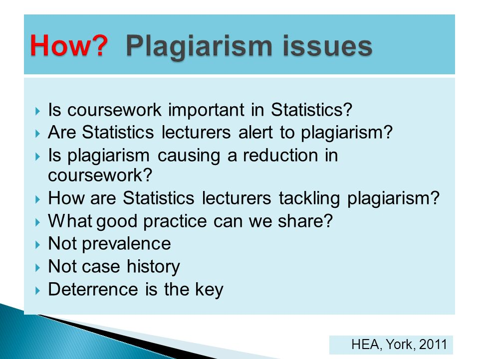 How Plagiarism issues Is coursework important in Statistics