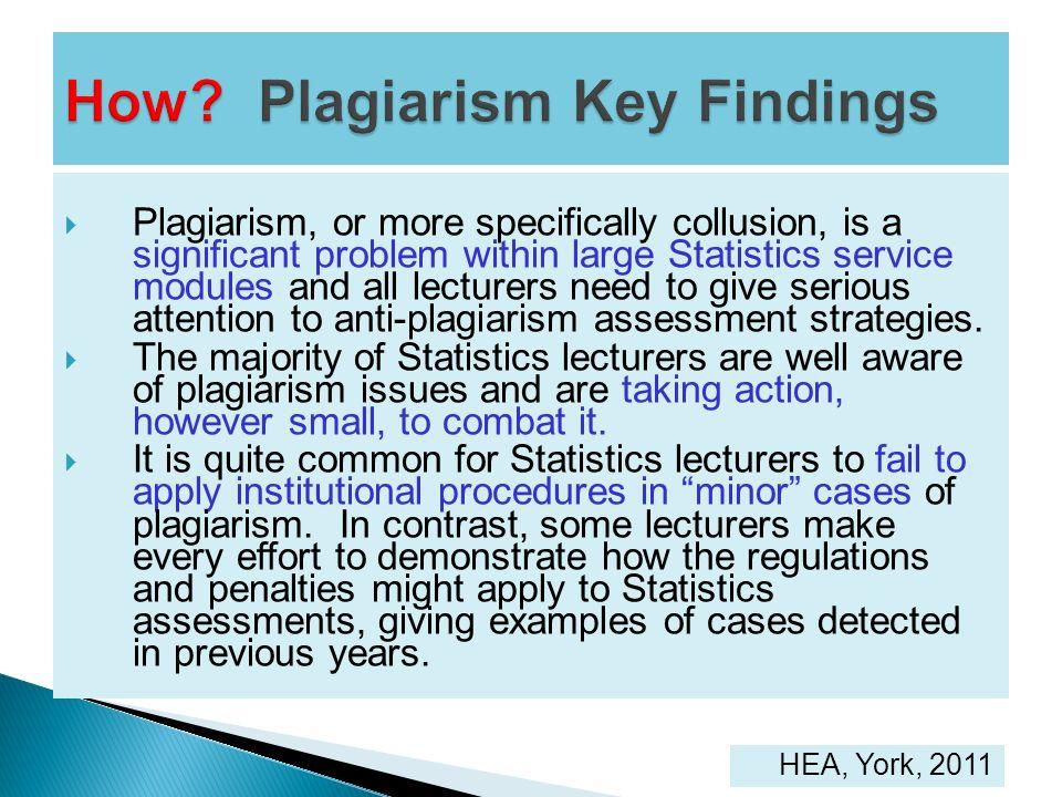 How Plagiarism Key Findings