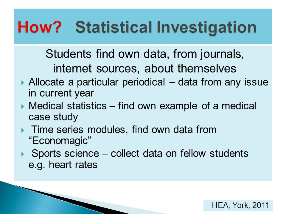 How Statistical Investigation