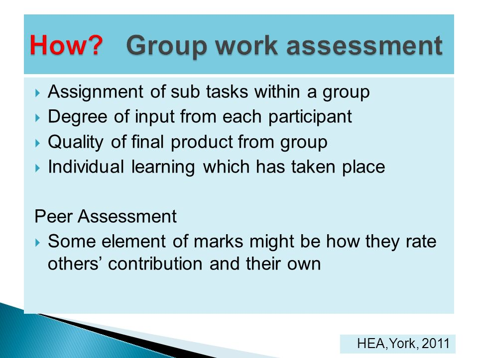 How Group work assessment
