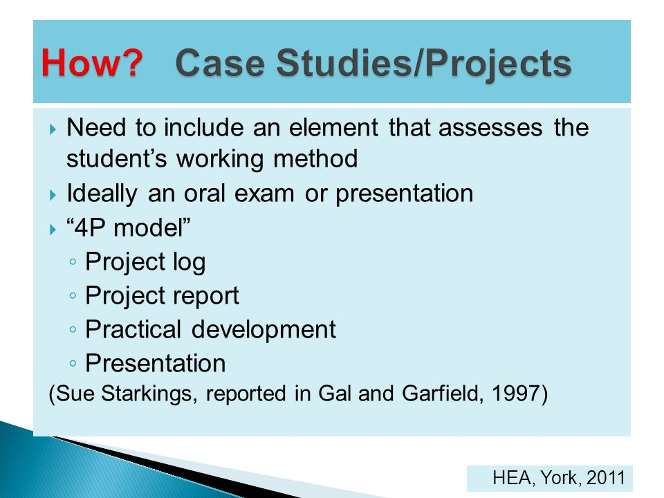 How Case Studies/Projects