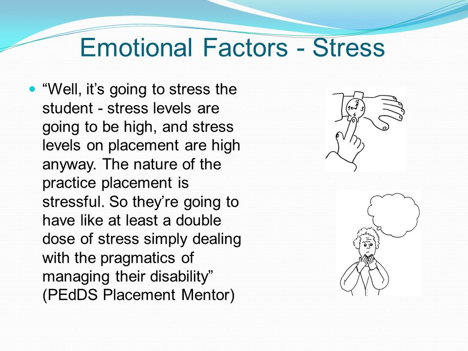 Emotional Factors - Stress