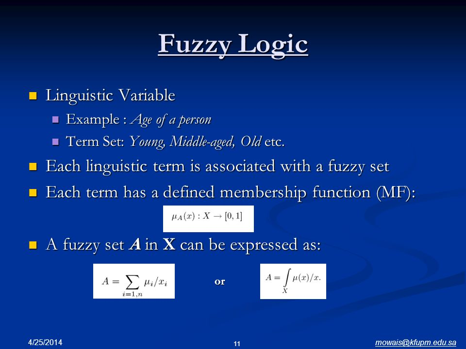 Fuzzy Logic Linguistic Variable