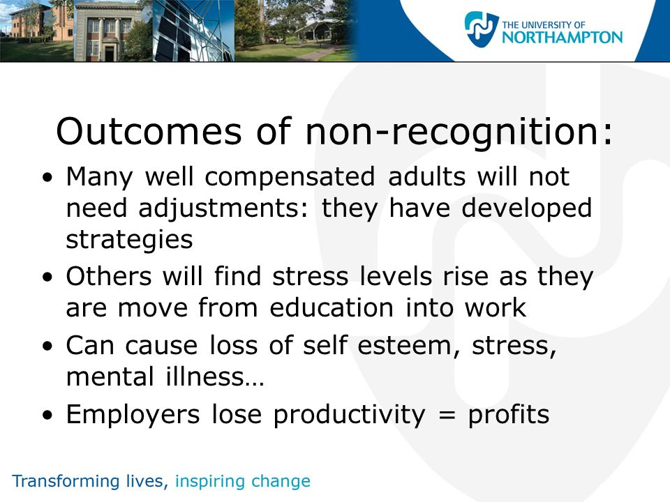 Outcomes of non-recognition: