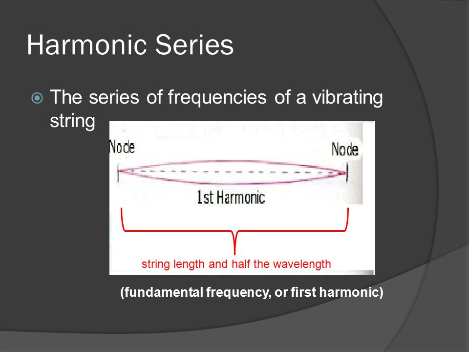 (fundamental frequency, or first harmonic)