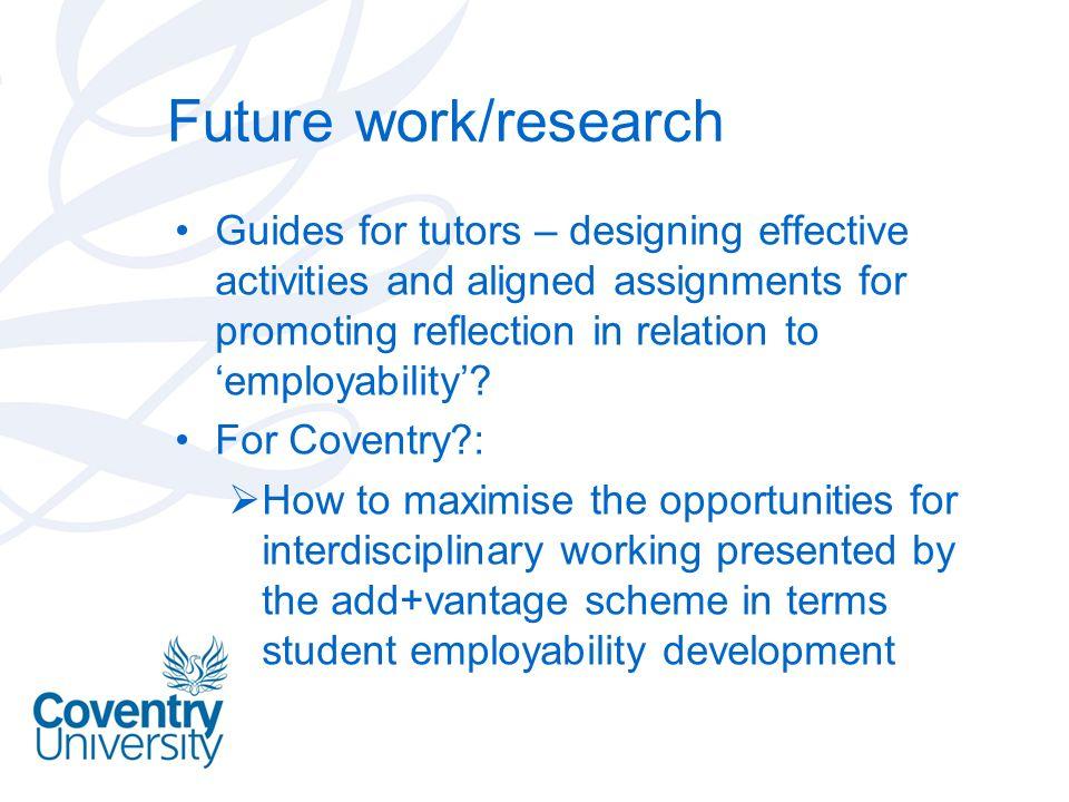 Future work/research