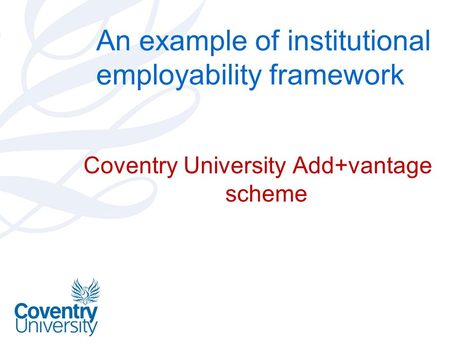 An example of institutional employability framework