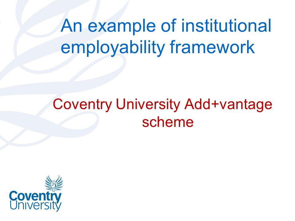 An example of institutional employability framework