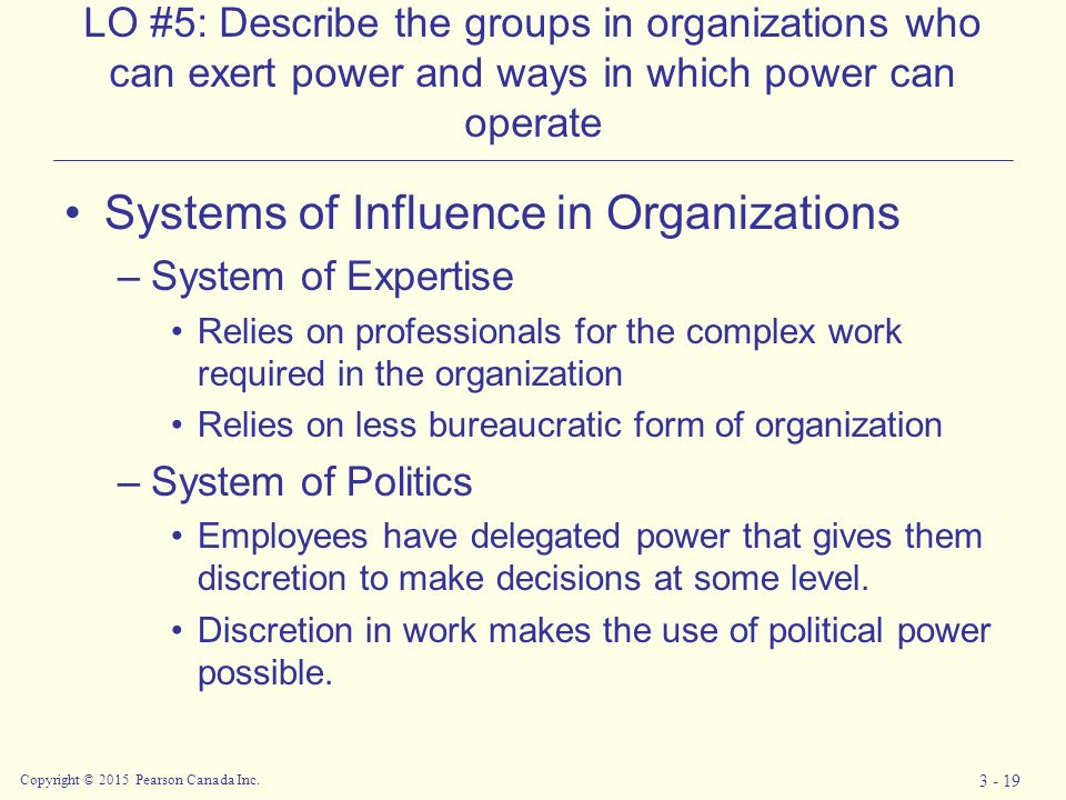 The Role of Power, Politics and Management in Organisational Effectiveness