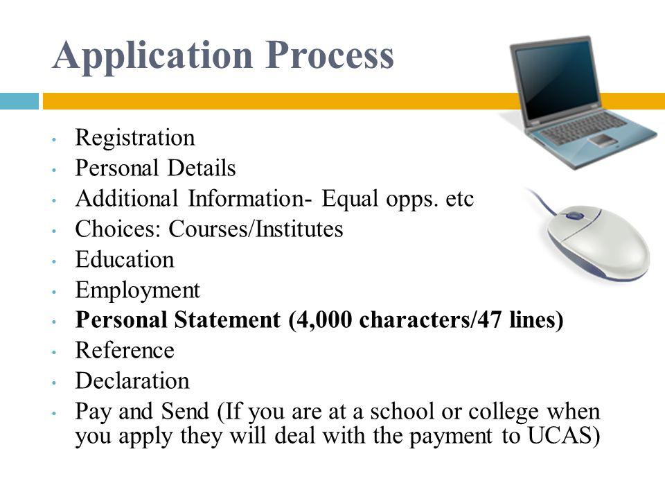 Application Process Registration Personal Details