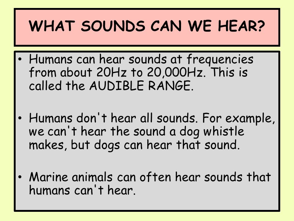 adult cant hear sound