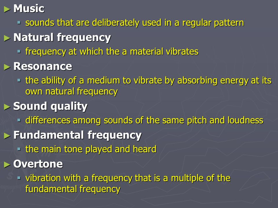Fundamental frequency Overtone
