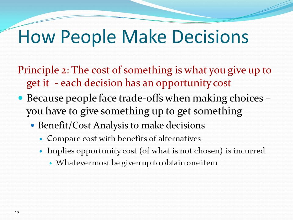 the cost of the decisions we make essay One of the things we know is that human beings are horrible in terms of relying on their emotions to make decisions, and yet almost all of our decisions are based on the emotions we feel about a .