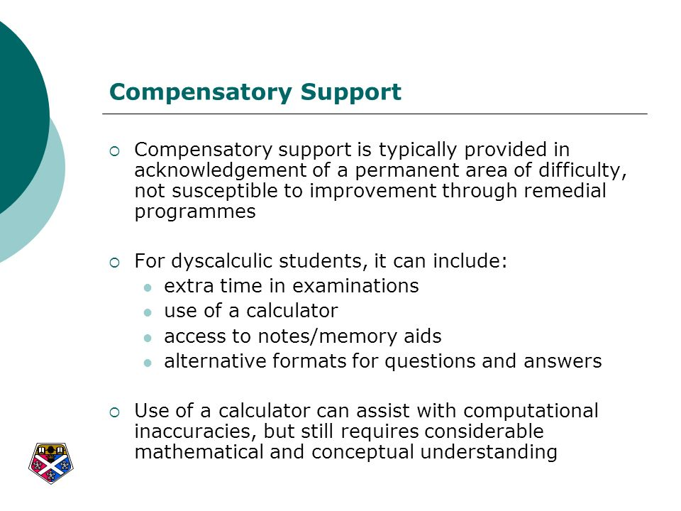 Compensatory Support