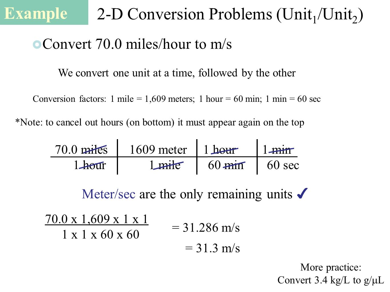 how to work out convert min to meters