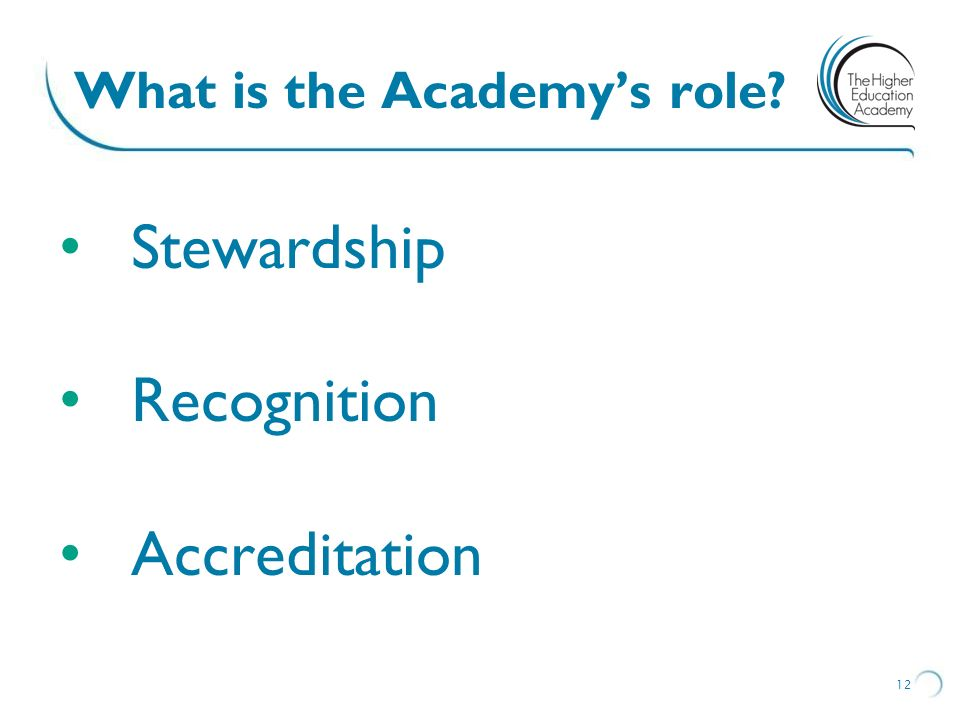 What is the Academy's role