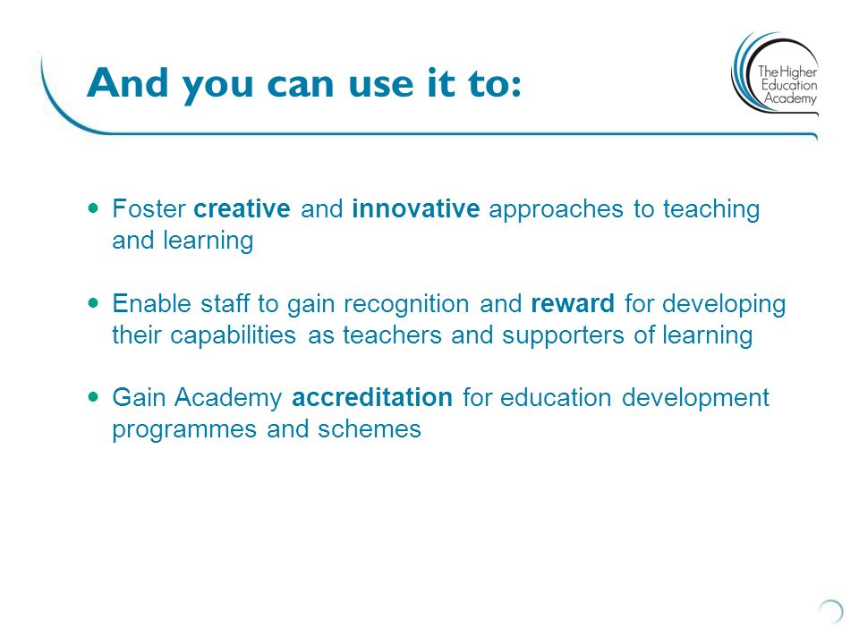 And you can use it to: Foster creative and innovative approaches to teaching and learning.