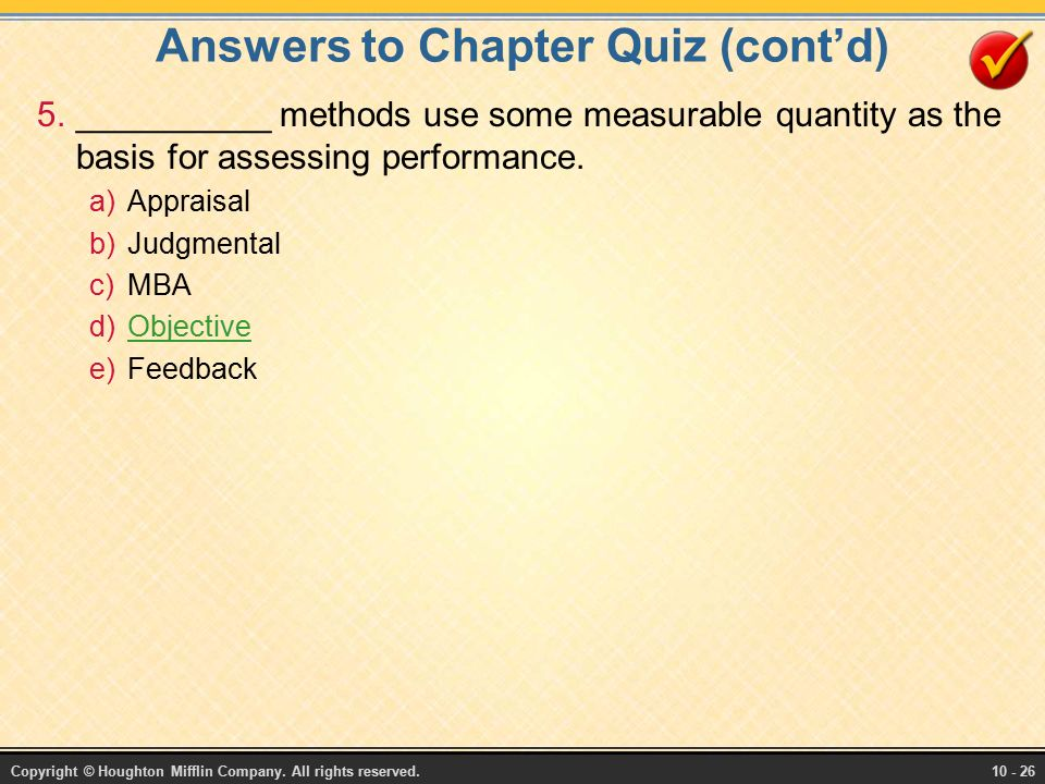 performance appraisal answers