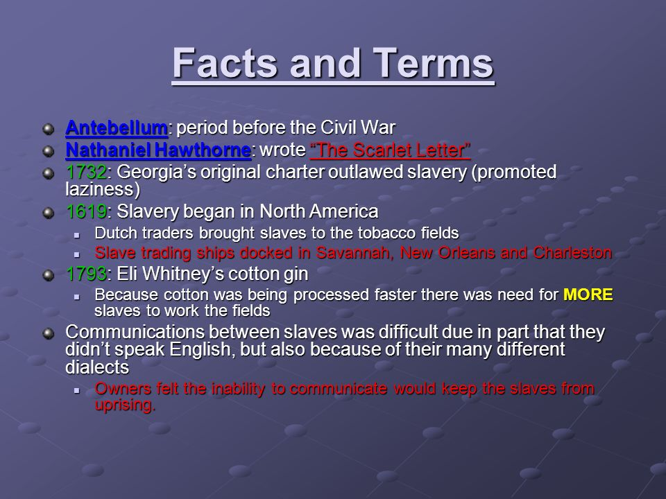antebellum period Rachel peltier ap us history the period before the civil war is known as the antebellum period in this time period, many reform groups were established to improve and perfect life in america.