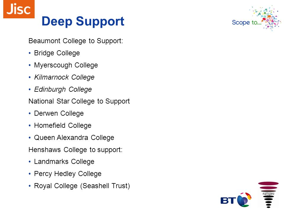 Deep Support Beaumont College to Support: Bridge College