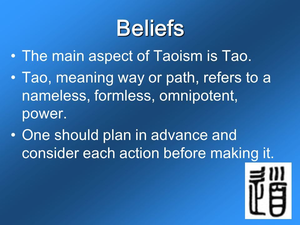 the beliefs and teachings of taoism Explores the religion developed by the quanzhen taoists, who sought to  cultivate the mind not only through seated meditation, but also throughout the  daily.
