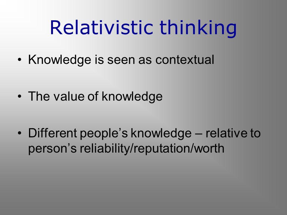 Relativistic thinking