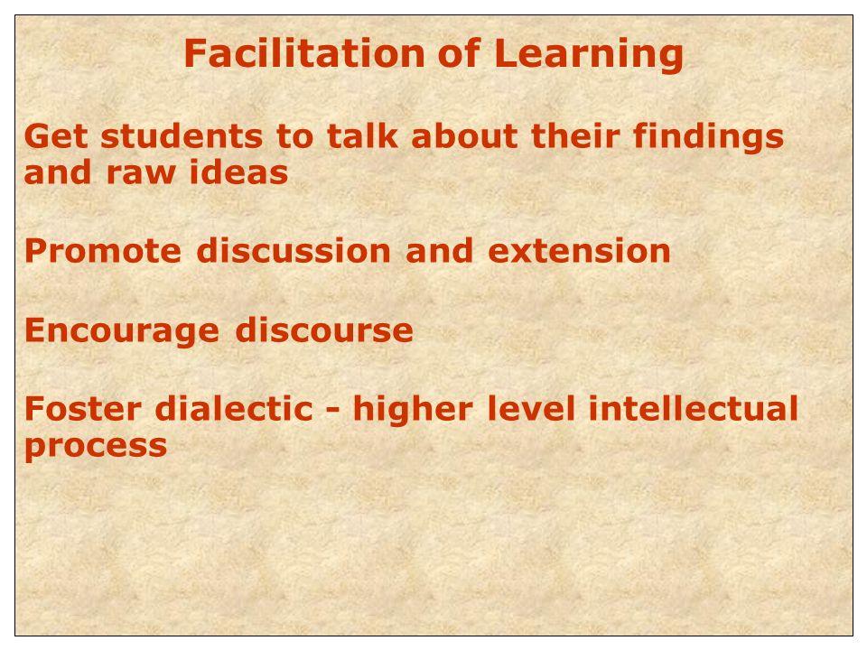 Facilitation of Learning