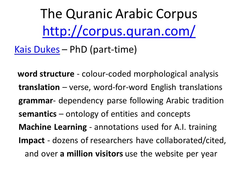 The Quranic Arabic Corpus