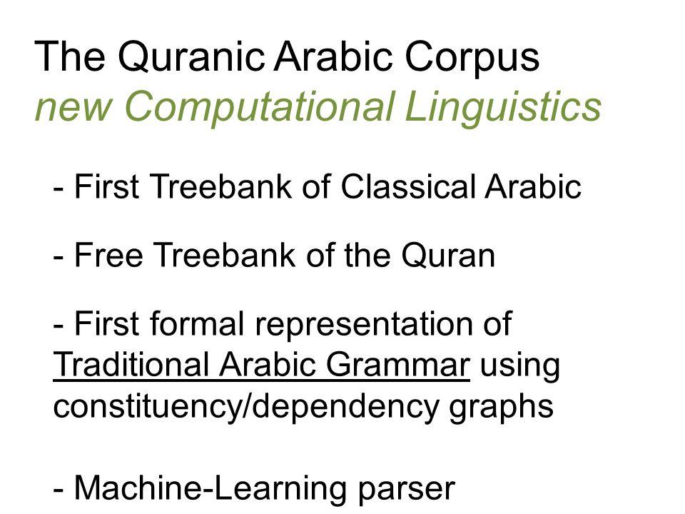 The Quranic Arabic Corpus new Computational Linguistics