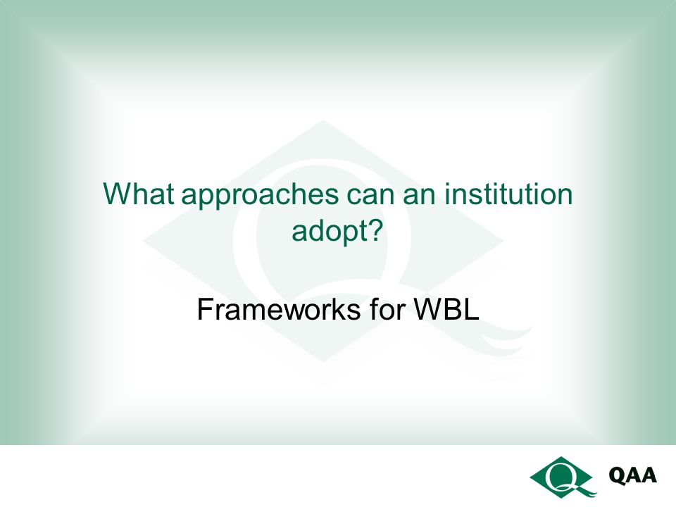 What approaches can an institution adopt