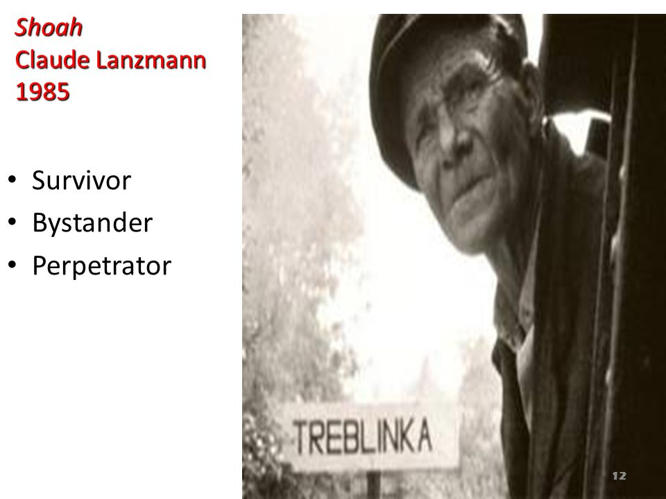 Shoah Claude Lanzmann 1985 Survivor Bystander Perpetrator