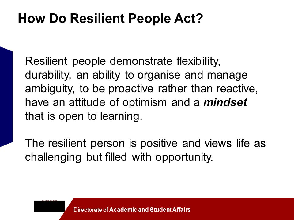 How Do Resilient People Act