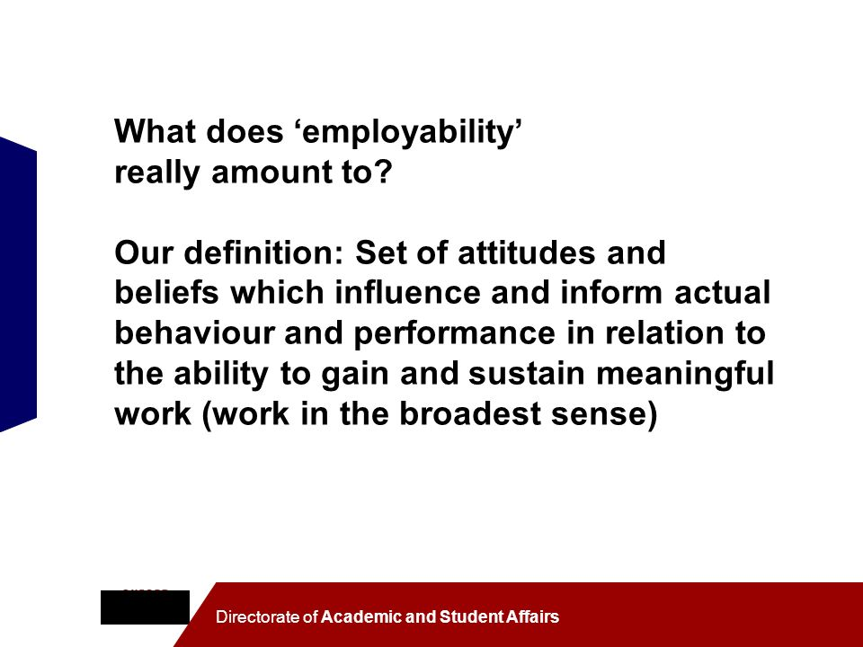 What does 'employability' really amount to