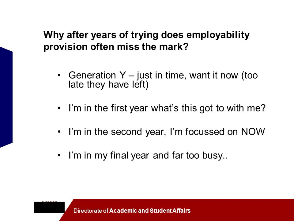 Why after years of trying does employability provision often miss the mark