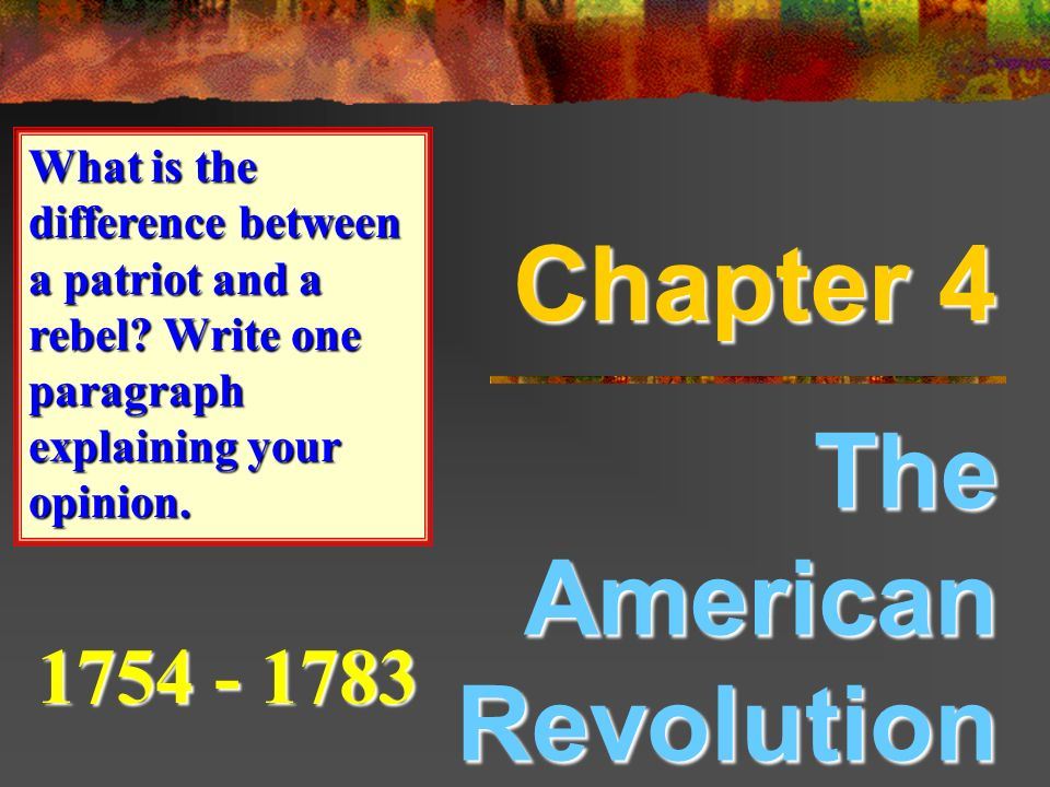 paragraph about revolution Essays from bookrags provide great ideas for revolution essays and paper topics like essay view this student essay about revolution.