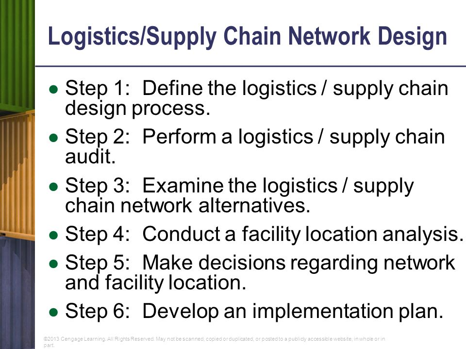 Supply chain network analysis and design ppt video online download for Network design and implementation plan